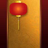 Invitation card with Chinese lantern — Stock Photo