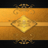 пригласительная открытка с золотая пластина — Стоковое фото