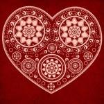 Grunge ornamental heart — Stock Photo