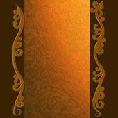 金黄背景与花卉装饰品 — 图库照片