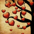 Stock Photo: Tree with hearts
