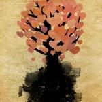 Abstract hearts tree — Stock Photo
