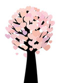 Abstract hearts tree — Stock Vector