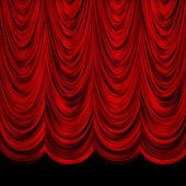 Decoretive czerwone zasłony — Zdjęcie stockowe