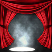 Dramatic theater stage with spotlights — Stock Photo