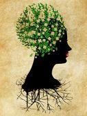 Grugne white blossom head — Stockfoto
