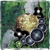 Grunge party design — Stockfoto