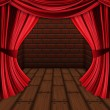 Room with red curtains — Stock Photo #21606291