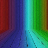 Rinbow 木墙 — 图库照片