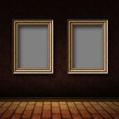 Old room with wood frames — Stock Photo