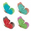 Abstract colorful butterflies — Stock Vector #21997873