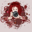 Photographer girl - Stock Vector