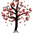 Tree with hearts — Vector de stock #21998253