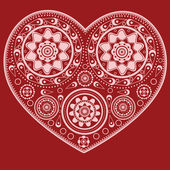 Ornamental heart — Stockvector