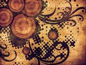 半调网屏的复古花卉装饰 — 图库照片