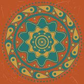 橙色背景上的绿松石饰品 — 图库矢量图片