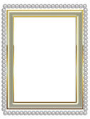Frame with pearls — Stock Photo