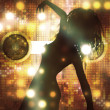 Royalty-Free Stock Photo: Dancing female silhouette