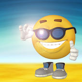 Smiley on the beach — Stock Photo