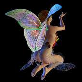 Flower fairy sitting — Stock Photo
