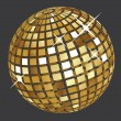Golden disco ball - Stock Vector