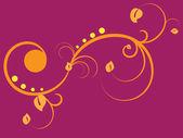 黄色花卉装饰 — 图库矢量图片