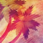 Grunge cartoon palms — Stock Photo