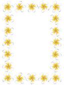 White frangipani flowers frame — Stock Vector