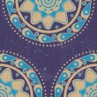 Grunge blue and yellow color ornament - Image vectorielle