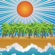 Sunny tropical island — Stock Vector #23860863