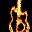 Flaming guitar — Stock Photo #24142103