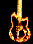Flaming guitar — Stock Photo