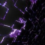 Purple glowing techno background — Stock Photo