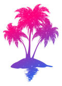 Colorful palm island — Stock Photo