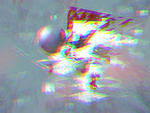 Triangle explosion with anaglyph effect — Stock Photo