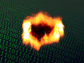 Burning binary background — Stock Photo