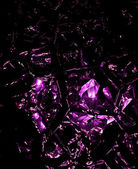 Purple shattered glass — Stock Photo