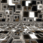 Dark glowing techno background — Stock Photo