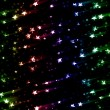 Colorful glowing stars - Stock Photo