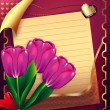 Card with tulips — Stockfoto