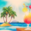 Cocktail on beach — Stock Photo #24810395