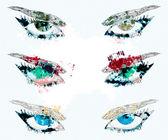 Watercolor eyes — Stock Photo