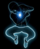 Glowing man — Stock Photo