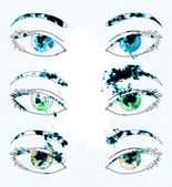 Watercolor eyes — Stock Photo