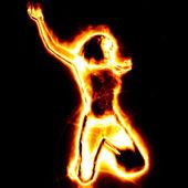 Fire girl — Stock Photo