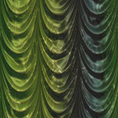 Green curtain with pattern — Stock Photo