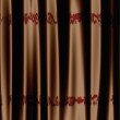 Brown curtain with pattern — Stock Photo