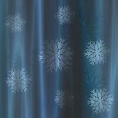 Gardin med snöflingor — Stockfoto