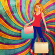 Stock Photo: Blond woman with shopping bags