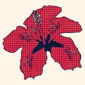 Halftone hibiscus — Stock Photo